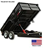 Trailer Dump Kit for 9 Ft to 12 Ft Beds - 7.5 to 10.8 Ton Capacity - Made in Usa