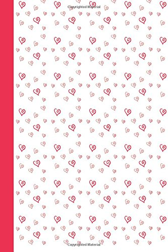 Journal: Calligraphy Hearts 6x9 - DOT JOURNAL - Journal with dotted pages (Hearts Dot Journal Series)