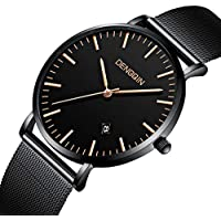 Men's Business Watch Waterproof Steel Mesh Milanese Band Watches Casual Sport Date Fashion Analog Quartz Wrist Watch