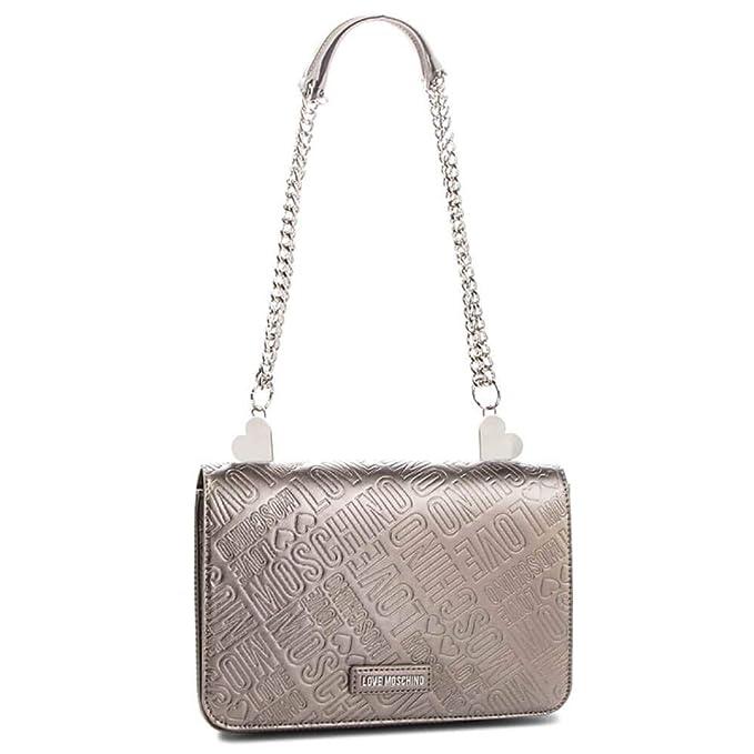99472efa67d Love Moschino Metallic Embossed Shoulder bag gold silver  Amazon.co.uk   Clothing