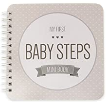 "NEW! Baby First Year Memory Mini Book for Two Moms LGBT Family. Smokey Gray ""Modernista""(TM), Poly Cover. Intimate, travel size memory keeper record book and journal. 5x5"" - Great Shower Gift!"