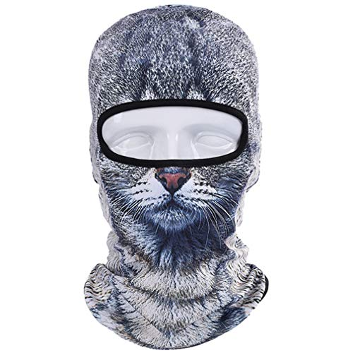 Motorcycle Full Face Mask 3D Animal Cat Dog Hats Helmet Windproof Breathable Paintball Snowboard Cycling Ski 09