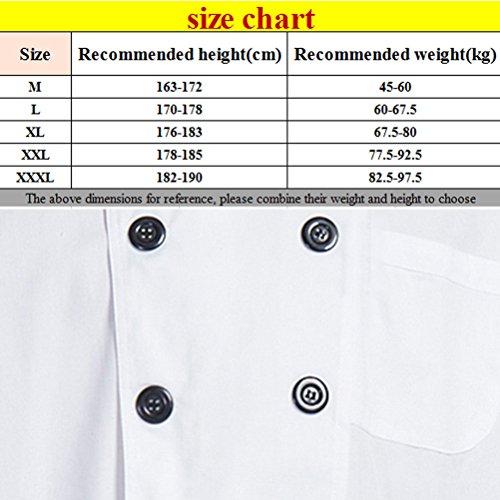 White Hotel Simplicity Uniform Short Cotton White Clothes Unisex Zhhlinyuan Sleeve Chef 5wO0q7BBxR