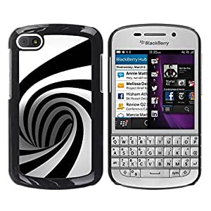 LECELL -- Funda protectora / Cubierta / Piel For BlackBerry Q10 -- Geometry Mind Ben Pattern --