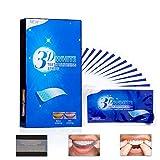 Teeth Whitening Strips, Dental Enamel Safe Teeth Bleaching Treatment for Crystal Smile Non-Peroxide Whitener Kit Professional Remover of Teeth Stain Mint Flavor 28pcs