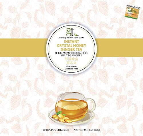 GoTo Tea Instant Crystal Honey Ginger Tea (40 Tea - Tea Ginger Crystallized