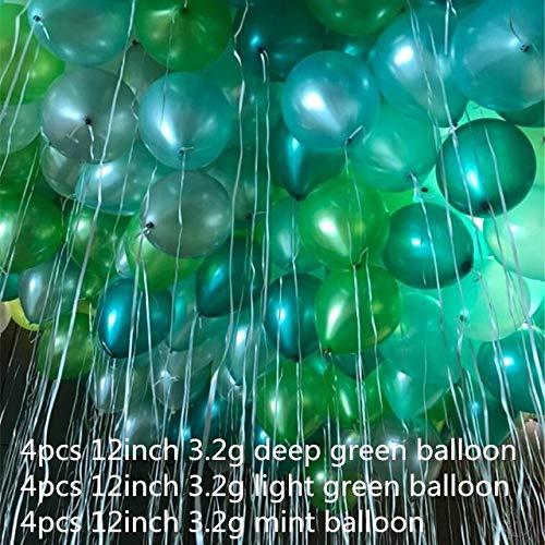 daisy1030 Globos de Feliz cumpleaños, 12 Globos Verdes, 3,2 ...