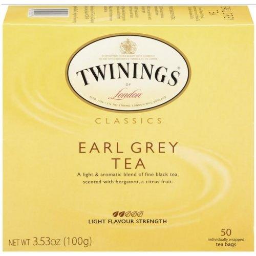 Twinings Earl Grey Tea Tea Bags 50-Count Boxes 50 Tea Bags G