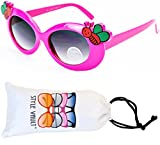 Kd213-vp Style Vault Kids (2~6yr) Girls Cateye Sunglasses (B1462F Hot Pink, uv400)
