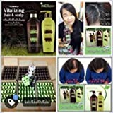 3 Set X 6 Bottles Result in 14 Days, Hybeauty Vitalizing Hair & Scalp Conditioner and Shampoo Pure Herbal Concentrates From Korea, 300 Ml. Make Hair Stronger, Anti Hair Loss, Smooth