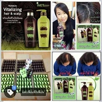 3 Set X 6 Bottles Result in 14 Days, Hybeauty Vitalizing Hair & Scalp Conditioner and Shampoo Pure Herbal Concentrates From Korea, 300 Ml. Make Hair Stronger, Anti Hair Loss, Smooth by Hybeauty (Image #1)