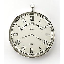 Butler Grafton Nickel Finish Wall Clock