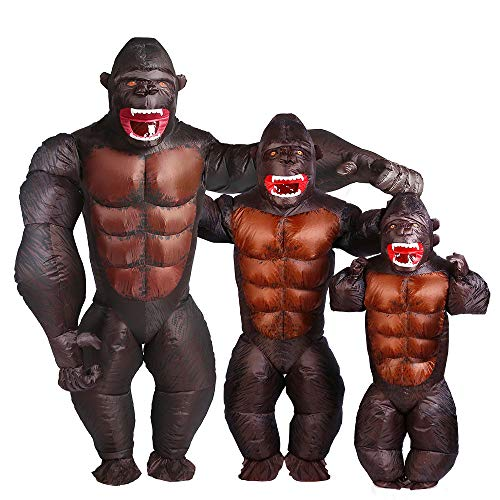 Gorilla Inflatable Costume Christmas Halloween Cosplay Blow up Outfit Fancy Dress (Gorilla Kid size)]()
