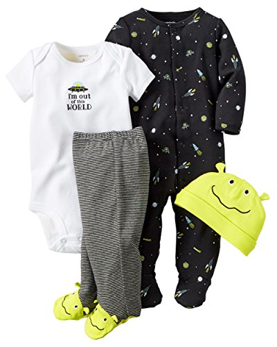 Carter's Baby Boys' 4 Piece Layette Set (Baby) - Out of this World-Newborn