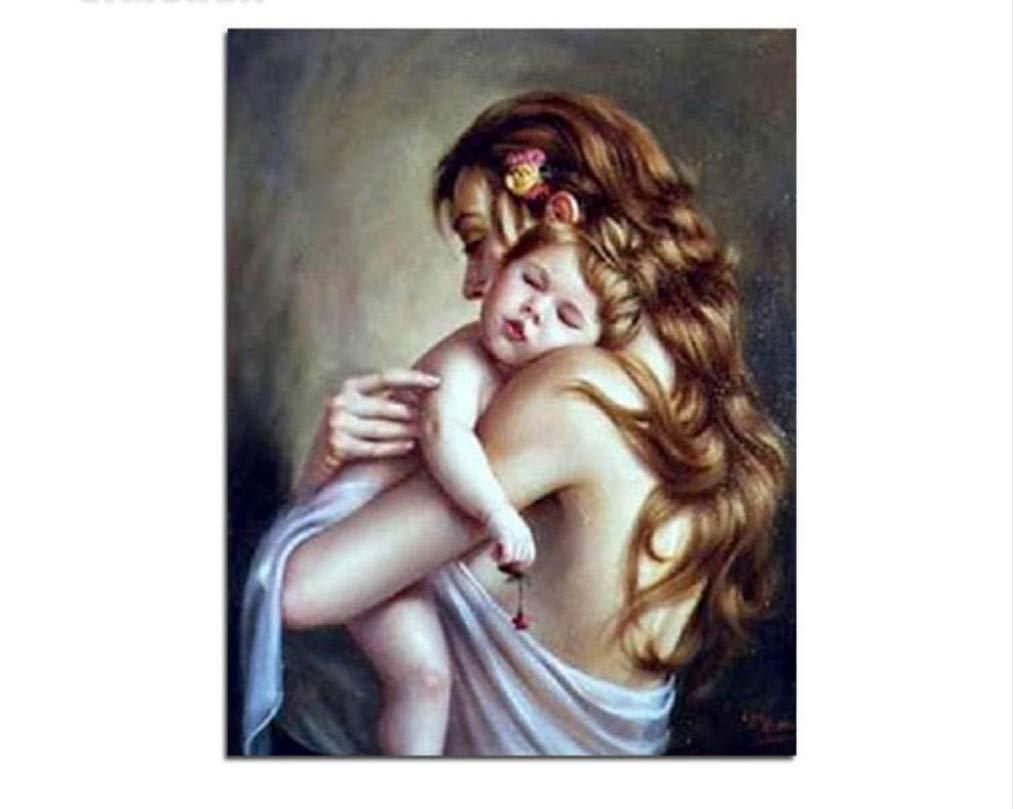 Madre Y Sol Diy Por Números Lienzo Pintura Acrílica Sobre Lienzo Números Pintada A Mano Pintura Al Óleo Por Números Para El Arte Moderno De La Pared 40X50 Cm 40x50 cm ae82ce