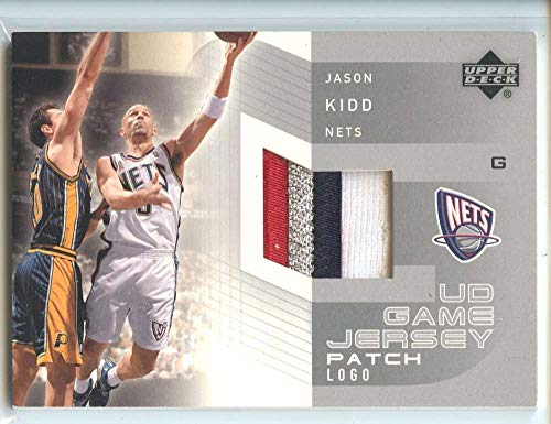 Jason Kidd Jersey Patch Logo Game Used 2002-03 Upper Deck UD Nets #JK-PL 1:5000 packs