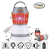 Fellee Bug Zapper, 2-in-1 Mosquito Killer & Camping Lamp Natural Mosquito Killer Lamp Travel Camping Lantern Pest Control USB IP67 Waterproof Insect Repeller for Indoor &Outdoor
