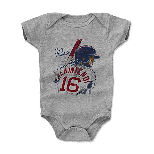 500 LEVEL Andrew Benintendi Baby Clothes, Onesie, Creeper, Bodysuit 3-6 Months Heather Gray - Boston Baseball Baby Clothes - Andrew Benintendi Portrait -