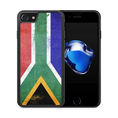 Südafrika Grunge iPhone 7 SILIKON TPU Hülle Cover Case Schutz Schale Flagge Flag South Africa