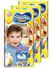 MamyPoko Standard Pants, XXL, 32 + 4 Count, (Pack of 3)