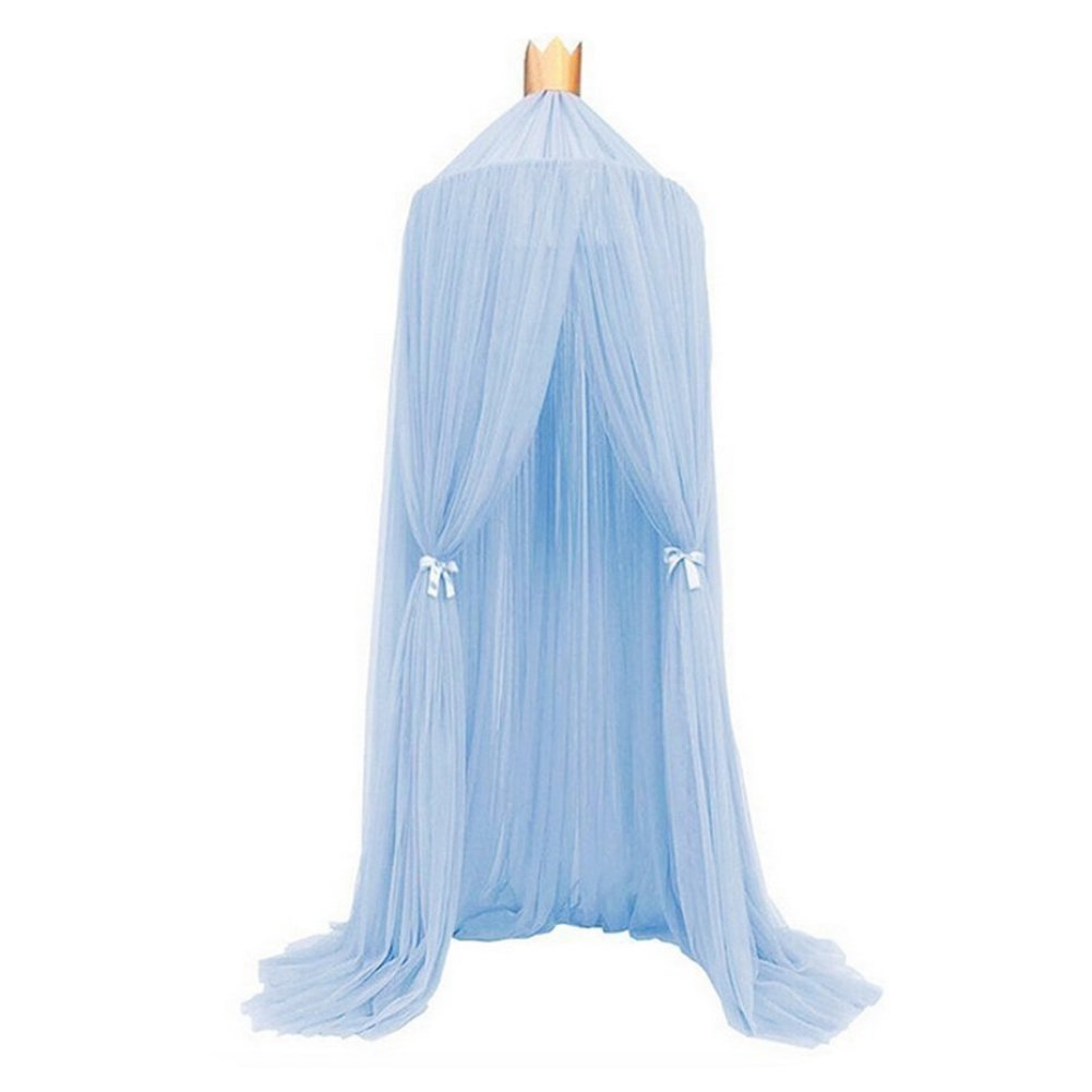 Bornbayb Mosquito Net Bed Canopy Round Lace Dome Bed Canopy Netting Princess Mosquito Net Games House for Girls Toddlers and Teens