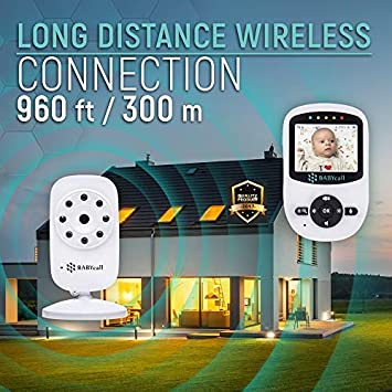 Video Baby Monitor with Camera – Upgrade 2019 Model of Monitoring System with Night Vision, Two Way Audio, Temperature detectors – Long Range Wireless Monitoring by BABYcall