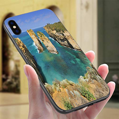 (iPhone X/XS Color case Australia Great Ocean Road Port Campbell National Park by The Great Ocean Road in Victoria Resistance to Falling, Non-Slip,Soft,Convenient Protective Case)