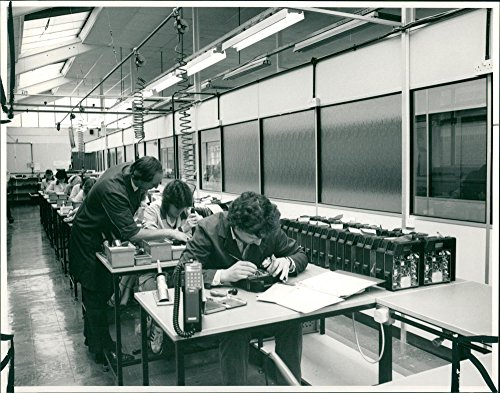 Vintage photo of Transportable phones being made by for sale  Delivered anywhere in USA