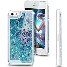 Nsstar iPhone 4s Case,iPhone 4s Cases,iPhone 4s Cover,iPhone 4 Case Cover,Creative Unique Design Flowing Liquid Bling Glitter Star Hard Case for Apple iPhone 4 4S (Blue)
