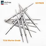 Aotree Lag Screw Swage Turnbuckle for 1/8'' Cable Wire, T316 Marine Grade Swage Turnbuckle Stud Thread Fitting Terminal for Cable Deck Stair Railing, 10 Pack