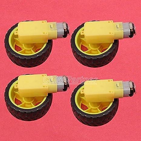 DC 3V-6V 1:120 Gear Motor W// Wheel Hobby TT Homotaxial For Robot Car DIY *