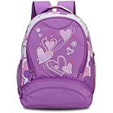 Hynes Eagle Girl's Lightweight Sweetheart Patterns School Backpack (Purple)