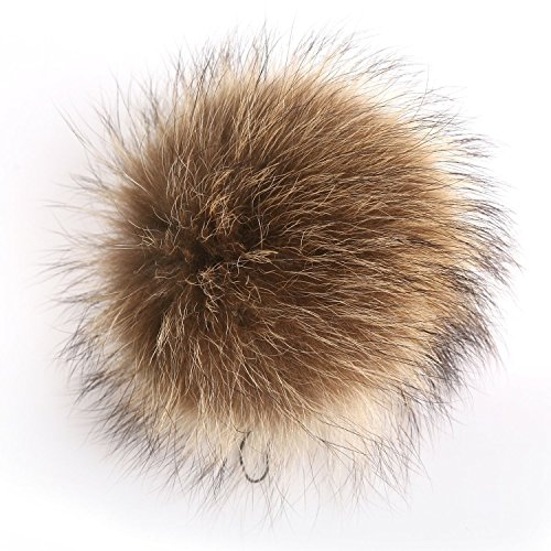 Pom Pom Real Fur (Fur Pom Pom Keychain Bag Charm - Real Fox Raccoon Fur Ball Sexy Hangbag Charms FURTALK Original)