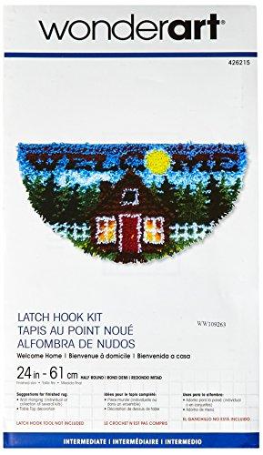 (Spinrite Wonderart Latch Hook Kit, 24-Inch Half Round, Welcome Home)