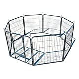Cheap My1stPet 8 Panels Metal Exercise Dog Playpen with Door, Hammertone, 40″