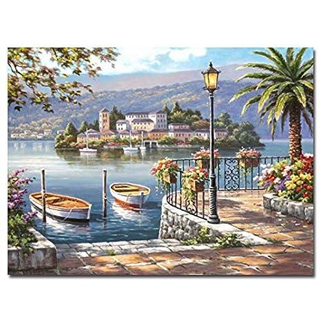 Yyboo Immagini di Paesaggi Marini Pittura Fai da Te By Numbers Home ...