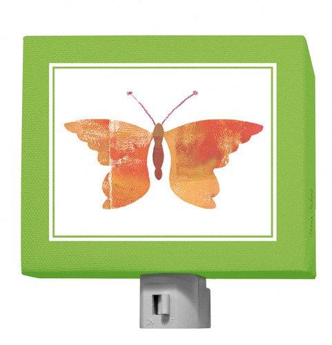 Oopsy Daisy Forest Friends Night Light, Green-Orange/Butterfly, 5