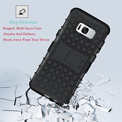 S8 Plus case, Viodolge [Shockproof] Hybrid Tough Rugged Dual Layer Protective Phone Case Cover with Kickstand for Samsung Galaxy S8 Plus All Carriers
