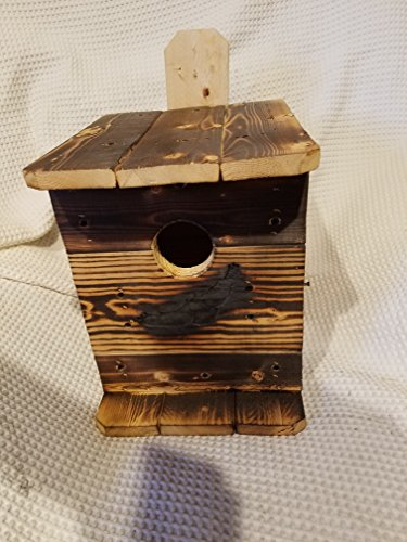(Small Screech owl House. 1 Unit. OWL Houses. Nesting Box. by. M.Holley. for OWL RE-Habe and Out Side USE.Fast 2 nd Work Day Shipping. Made in Ohio U.S.A. ONLY by U.S.A. RAW Material and U.S.A. VETS.)