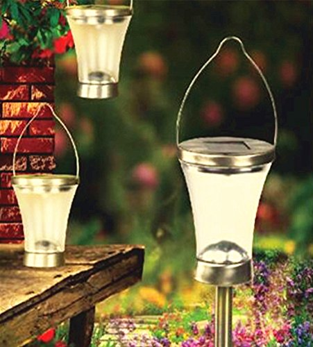 Sogrand 6pcs-Pack Solar Lights Outdoor,Solar Lanterns Hanger & Stake 2 Installations,Solar Light,Landscape Lighting,Solar Pathway Lights,for (Outdoor Lantern Lights)