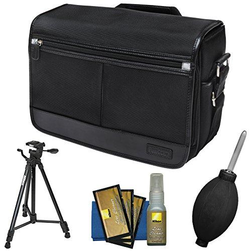 Nikon DSLR Camera/Tablet Messenger Shoulder Bag with Nikon 60' Tripod + Kit for D4s, Df, D810, D750, D610, D7200, D7100, D5500, D5300, D3300, D3200