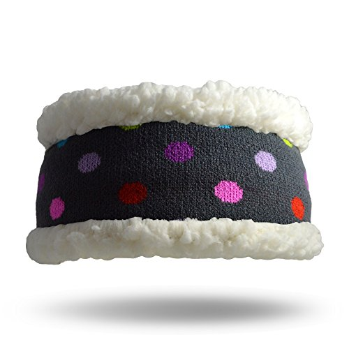 Pudus polka dot multicolored adult one size cozy winter headband from Pudus