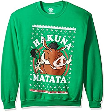 Disney Men's Lion King Hakuna Matata Ugly Christmas Sweatshirt at ...