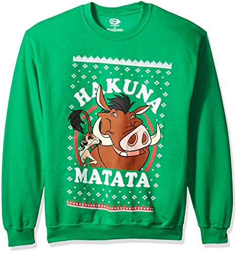 Disney Men's Lion King Hakuna Matata Ugly Christmas Sweatshirt