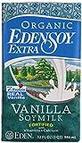 Eden Foods Organic Edensoy Extra Vanilla Soymilk, 32 Ounce (Pack of 12)
