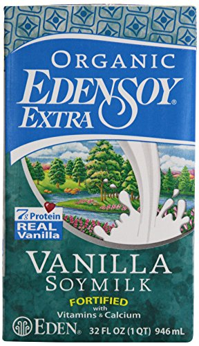 Eden Foods Organic Edensoy Extra Vanilla Soymilk, 32 Ounce (Pack of (Extra Vanilla Soy Milk)