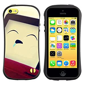 Pulsar iFace Series Tpu silicona Carcasa Funda Case para Apple iPhone 5C , Funny Sleeping Man