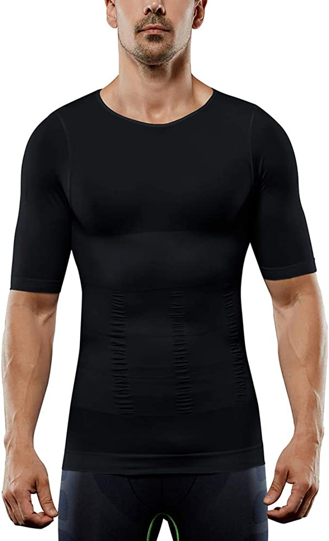 MISS MOLY Mens Compression Shirt Slimming Body Shaper for Men Seamless Tank Top Shapewear
