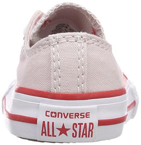 Converse Ctas OX Barely Rose/Enamel Red/White, Zapatillas Unisex Niños Pink (Barely Rose/Enamel Red/ White)