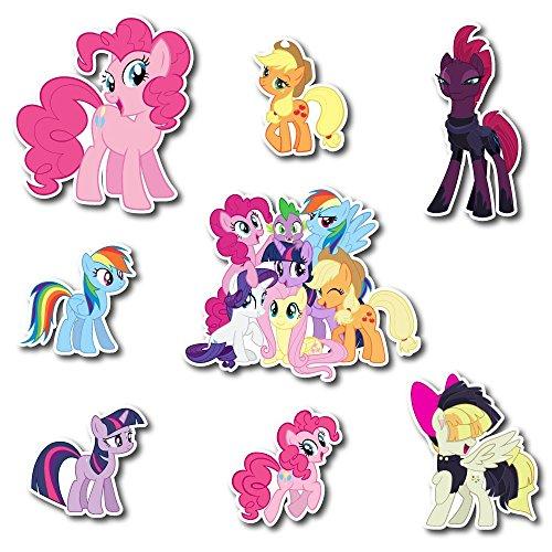 ticker My Little Pony The Movie Friendship Is Magic Pack Cartoon Decal for Car Window, Bumper, Laptop, Skateboard, Wall, ETC. Set-060 ()